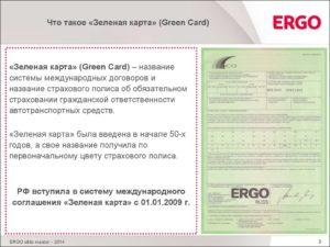 Полис Зеленая карта для юридического лица