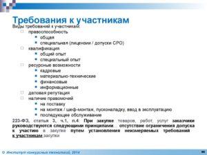 Требования к участникам закупки по 44-ФЗ
