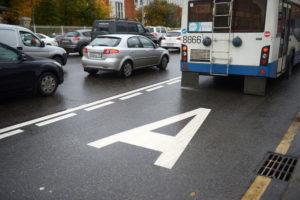Езда по автобусной полосе в ПДД