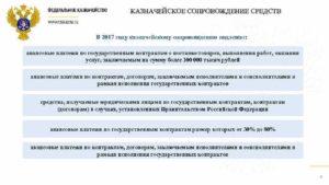 Казначейское сопровождение контрактов в 2019 году