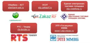 Торговые площадки электронных торгов по 44-ФЗ