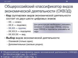 Коды ОКВЭД 2019 с расшифровкой по видам деятельности