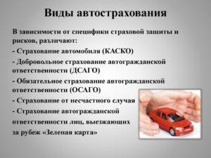Виды КАСКО страхования