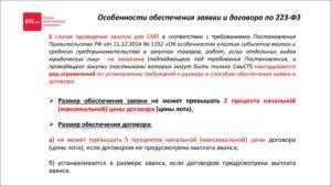 Обеспечение исполнения договора по 223-ФЗ