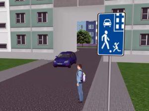 ПДД во дворах для автомобилей и пешеходов