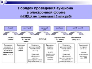 Сроки проведения электронного аукциона по 44-ФЗ