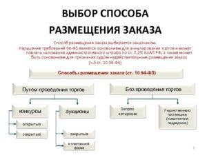 Способы размещения государственного заказа по 44-ФЗ