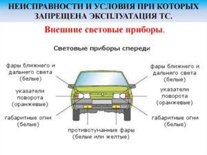 Габаритные огни транспортных средств по ПДД