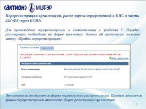 Как зарегистрироваться и перерегистрироваться в ЕИС