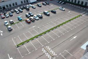Разметка для парковки автомобилей