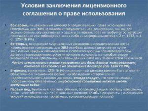 Контракт на предоставление права использования программ для ЭВМ