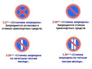 Запрещение остановки по ПДД