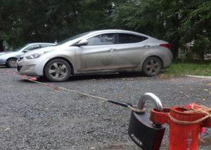 Жалоба при незаконной парковке во дворе