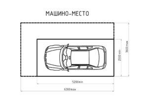 Размеры парковки для автомобиля