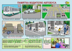 Соблюдение ПДД водителем автобуса