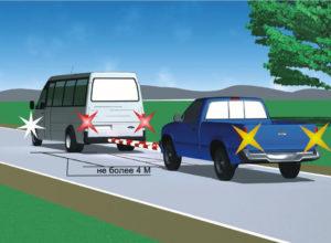 Буксировка транспортных средств по ПДД