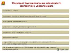 Должностная инструкция контрактного управляющего
