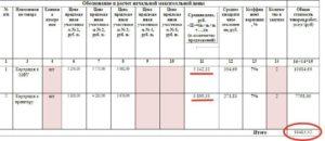 Реестр контрактов при определении НМЦК
