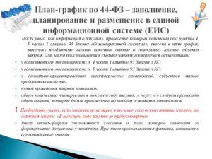 Размещение плана, плана-графика и контракта в ЕИС