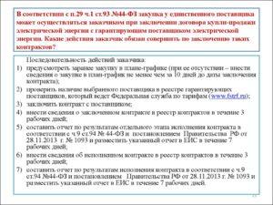 Разъяснения п. 29 ч. 1 ст. 93 Закона 44-ФЗ
