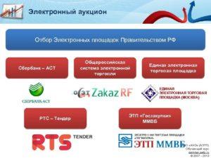 Государственные площадки электронных торгов по 44-ФЗ