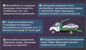 По каким правилам эвакуируют автомобили на штрафстоянку