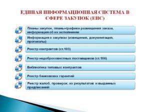 Единая информационная система (ЕИС)