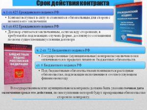 Сроки исполнения и действия контракта и договора
