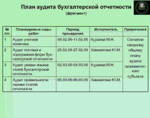 Закупки услуг по проведению аудита бухотчетности