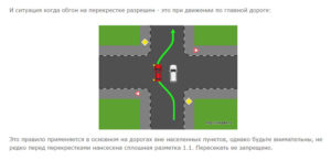 Разрешен ли обгон на перекрестке по главной дороге