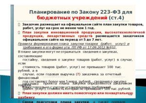 Правила формирования плана закупок по Закону № 223-ФЗ
