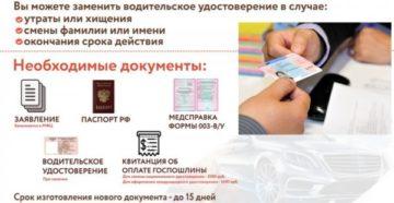 Процедура замены водительского удостоверения в 2019 году