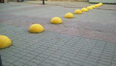 Ограничители парковок полусферы бетонные