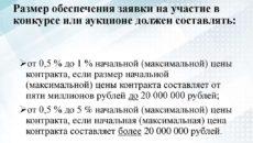 Обеспечение заявки для участия в конкурсе