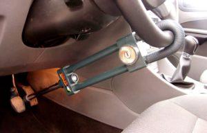 Защита от угона автомобиля на руль