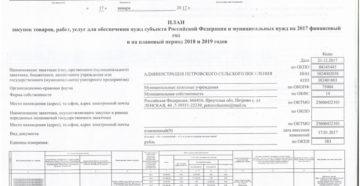 Заполнение плана закупок на 2018-2020 годы