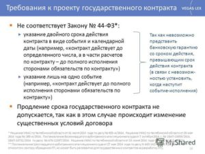 Срок действия контракта по 44-ФЗ