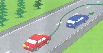 Выполнение обгона на повороте