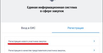 Как зарегистрироваться в ЕИС