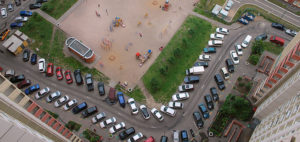 Парковки во дворе