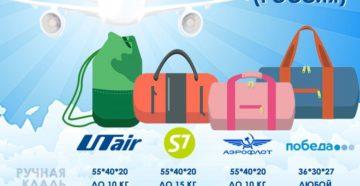 Нормы перевозки багажа и ручной клади в самолете