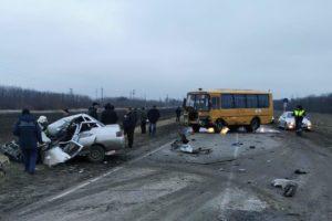 ДТП с участием школьного автобуса