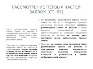 Срок рассмотрения первых частей заявок на участие в электронном аукционе