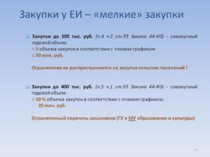 Закупки до 100 тысяч рублей по 44-ФЗ: особенности проведения
