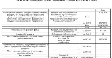 Закупки бюджетного учреждения в 2019 году