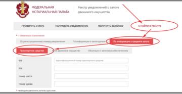 Регистрация залога автомобиля в реестре