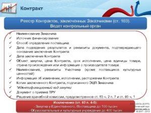 Реестр единственных поставщиков по 44-ФЗ и 275-ФЗ